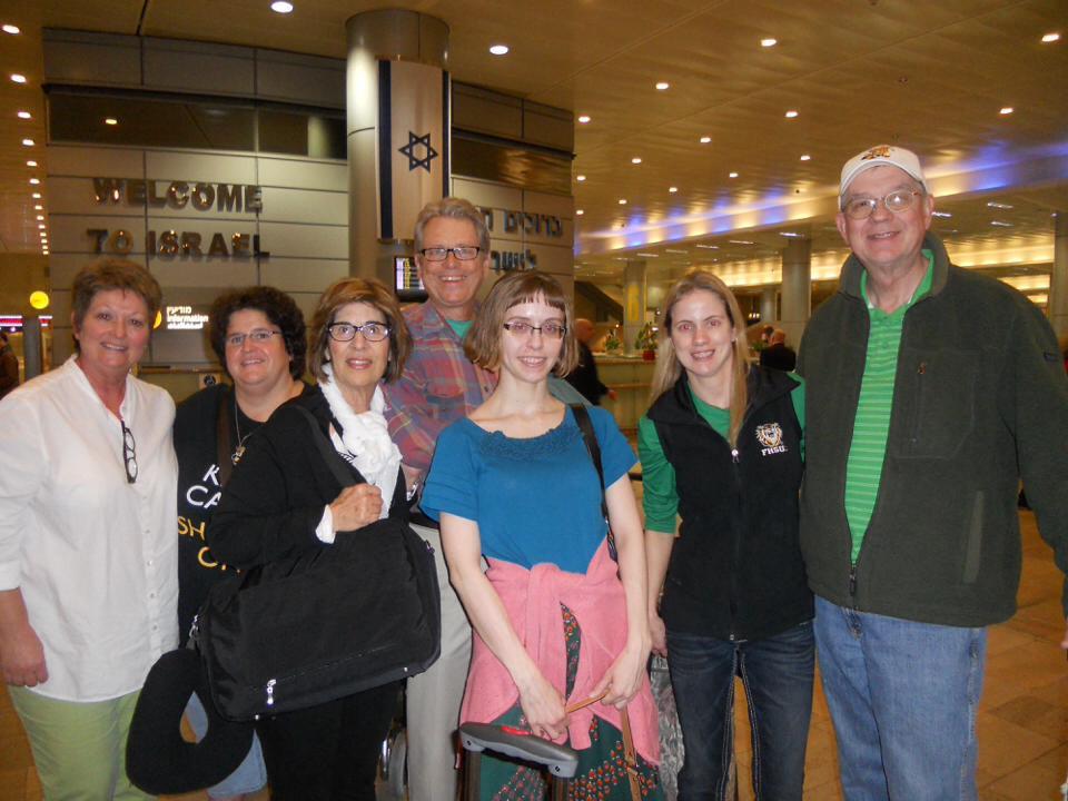 Group landing in Tel Aviv