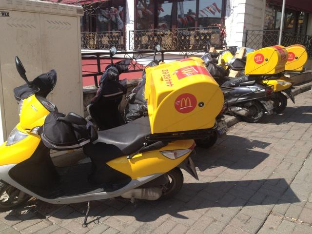 McDonald's delivery bikes-jpeg (1)