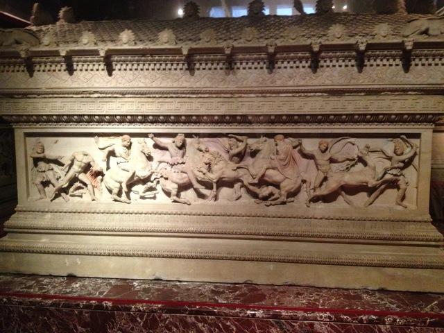 Sarcophagus detail